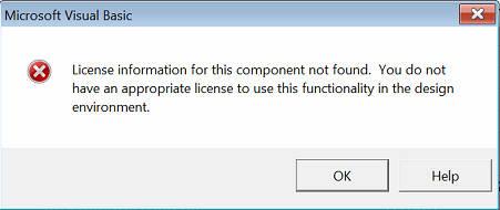 License information not found